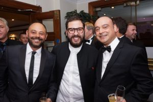 Nunzio & Mariano Russo with Andrea Faustini at the 2015 Scottish Italian Awards